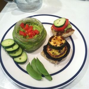 guace and veggie burger